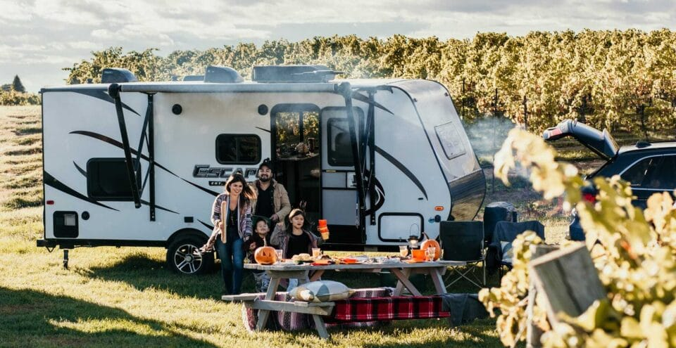 family and trailer