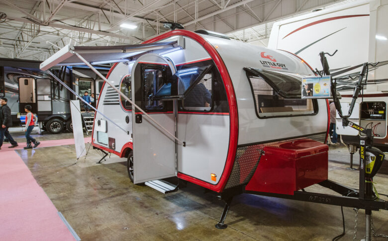 trailer at rv show