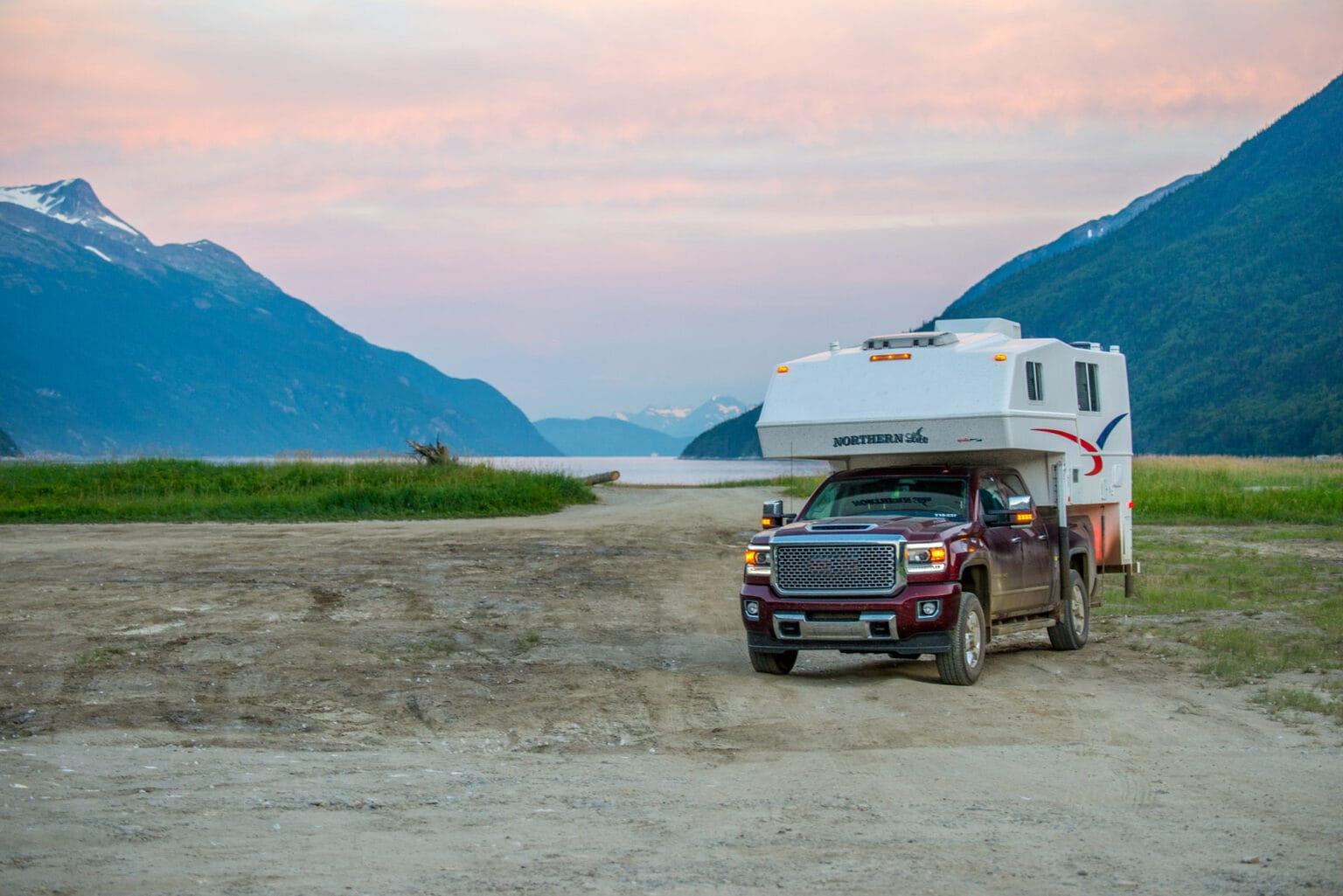 truck camper in the yukon